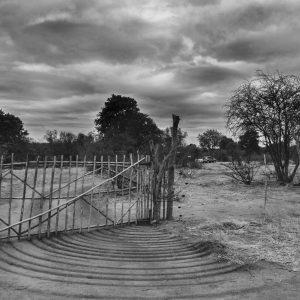 Rustic camp gate