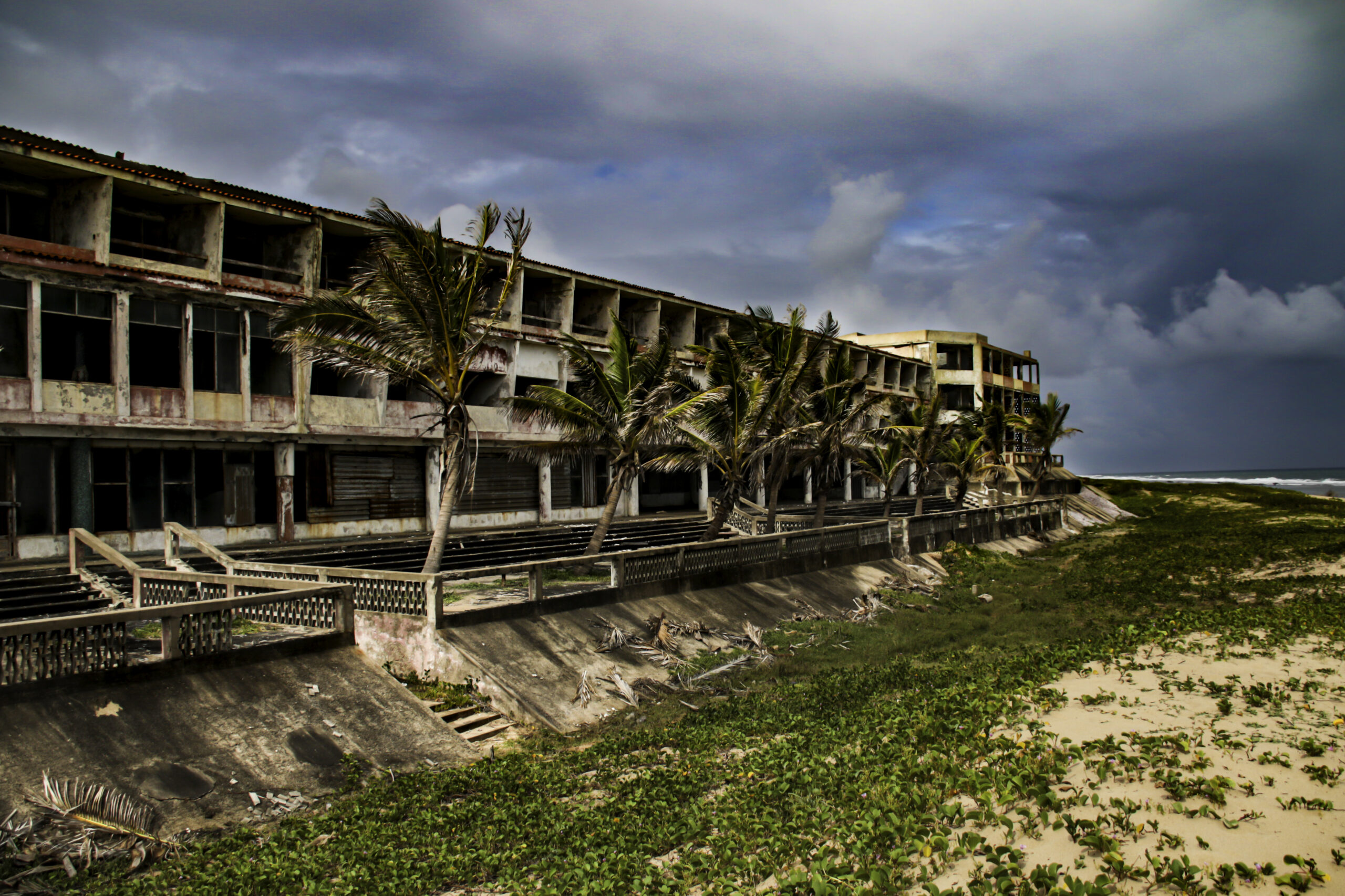 Abanded hotel ion Mozambique