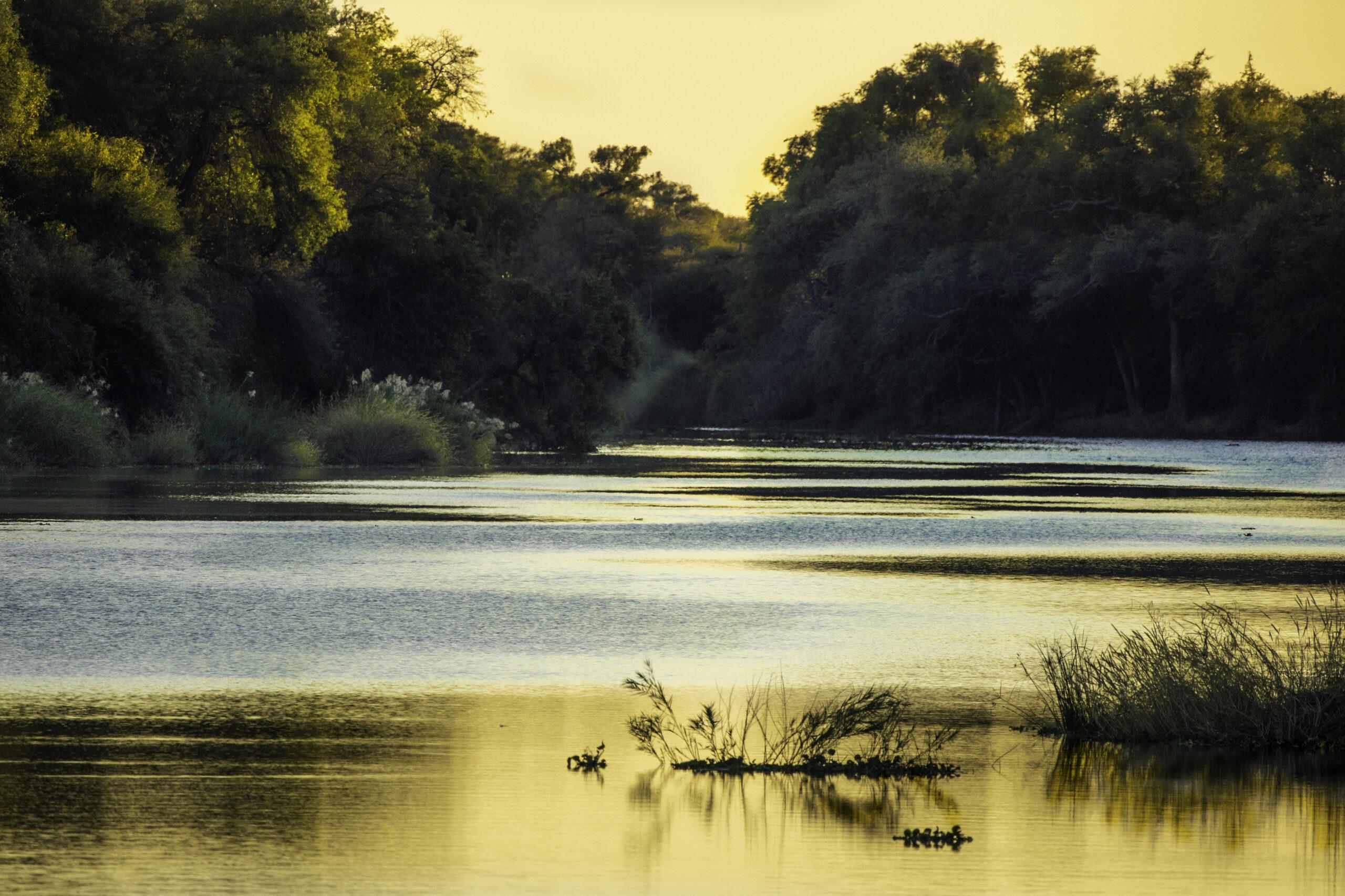 Sunrise over the Limpopo river